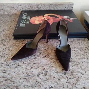 Cole Haan City Italian Leather Suede Heels/Pumps